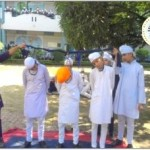 Students enacting execution of Shaheed Bhagat Singh