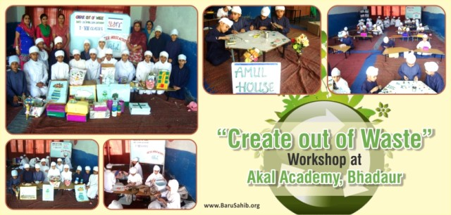 """Create out of Waste"" Workshop at village Bhadaur Akal Academy"