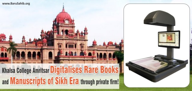 Khalsa College Amritsar digitalises rare books and manuscripts of Sikh era through private firm