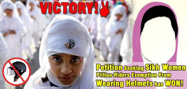 Helmets mandatory for women riders, Sikh women exempted