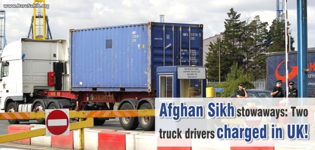 Afghan Sikh stowaways Two truck drivers charged in UK