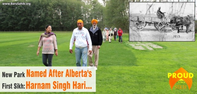 New Park Named After Alberta's First Sikh Harnam Singh Hari