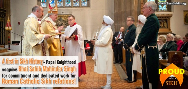 A first in Sikh history – Papal Knighthood recognises commitment and dedication