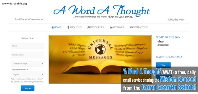 A Word A Thought
