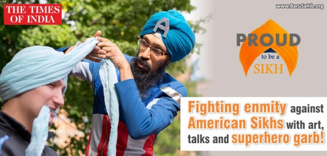 Fighting enmity against American Sikhs with art, talks and superhero garb