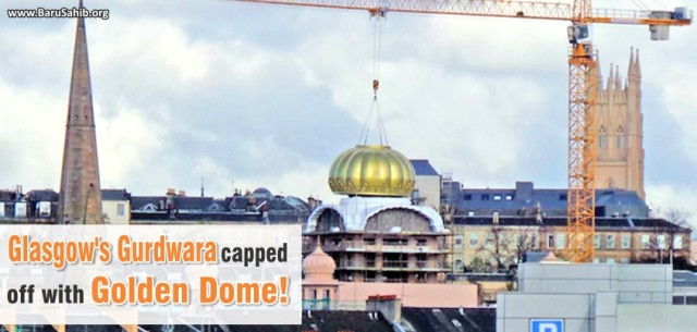 Glasgow's Gurdwara capped off with Golden Dome