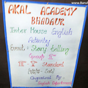 Bringing the Rural Kids to the forefront! - Inter House English sessions at Akal Academy Bhadaur!