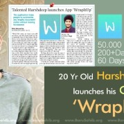 20 Yr Old Harshdeep Singh launches his Own APP' WrapItUp'!