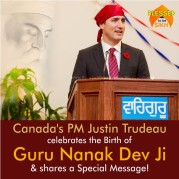 Canada'a PM Justin Trudeau celebrates the Birth of Guru Nanak Dev Ji & shares a Special Message!