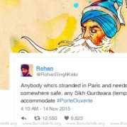 Sikh Man Tweet in the wake of Paris Attack shows HUMANITY above ALL!