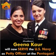 Geena Kaur will now SERVE the U.S. Navy as Petty Officer at the Pentagon!