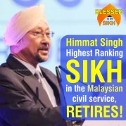 Himmat Singh- The Most Senior Ranking SIKH in the Malaysian civil service, RETIRES!