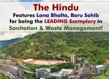The Hindu Features Lana Bhalta, #BaruSahib for being the LEADING Exemplary in Sanitation & Waste Management!