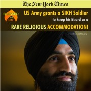 US Army grants a SIKH Soldier to keep his Beard as a RARE RELIGIOUS ACCOMMODATION!