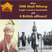 When ONE Akali Nihang fought a hand to hand battle with 4 British officers!