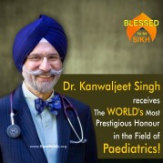 Kanwaljeet Singh receives The WORLD's Most Prestigious Honour in the Field of Paediatrics!