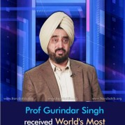 Prof Gurindar Singh received World's Most Prestigious Honour in the field of Computers!