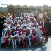 "Students of Akal Academy, Baru Sahib participated in the ""World Culture Festival 2016"""