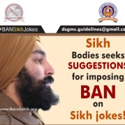 Sikh Bodies seek SUGGESTIONS for imposing BAN on Sikh jokes!