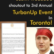 Canadian PM Justin Trudeau's shoutout to 3rd Annual TurbanUp Event In Toronto!