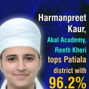 Harmanpreet Kaur, Akal Academy, Reeth Kheri tops Patiala district with 96.2%