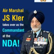 Air Marshal JS Kler takes over as the Commandant at the NDA!