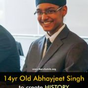 14yr Old Abhayjeet Singh to create HISTORY as the Youngest SIKH to go to the ARTICLE