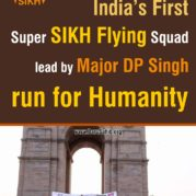 India's First Super SIKH Flying Squad lead by Major DP Singh run for Humanity