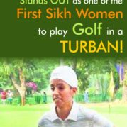 Japneet Kaur Stands OUT as one of the First Sikh Women to play golf in a TURBAN!