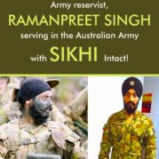 Army reservist, Ramanpreet Singh serving in the Australian Army with Sikhi Intact!