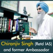 Chiranjiv Singh (Retd IAS) and former Ambassador to UNESCO gets a Top French Honor