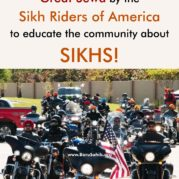 Great Sewa by the Sikh Riders of America to educate the community about SIKHS!
