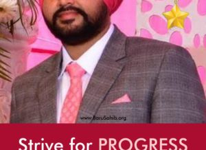 Strive for PROGRESS not PERFECTION-Gurbhagwan Singh