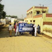 Anti Pollution rally by Students of Akal Academy, Sowaddi Kalan