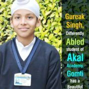 Gureak Singh, Differently Abled student of Akal Academy, Gomti has a Beautiful TALENT!