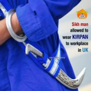 Sikh man allowed to wear kirpan to workplace in UK