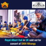 Royal Albert Hall in UK sold out for concert of SIKH Nihangs