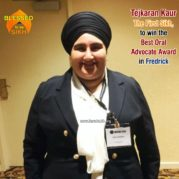Tejkaran Kaur- The First Sikh, to win the Best Oral Advocate Award in Fredrick