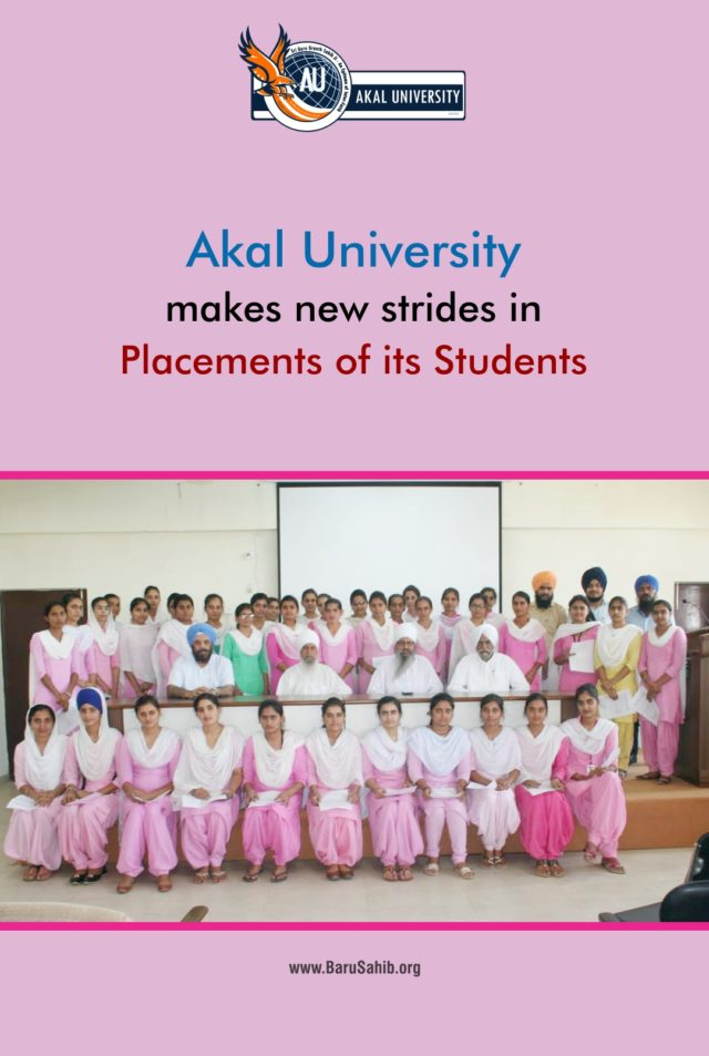 Akal University makes new strides in Placements of its Students