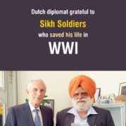 Dutch diplomat grateful to Sikh soldiers who saved his life in WWI