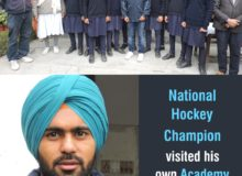 National Hockey Champion visited their own Academy in Gomti after winning the WORLD CUP